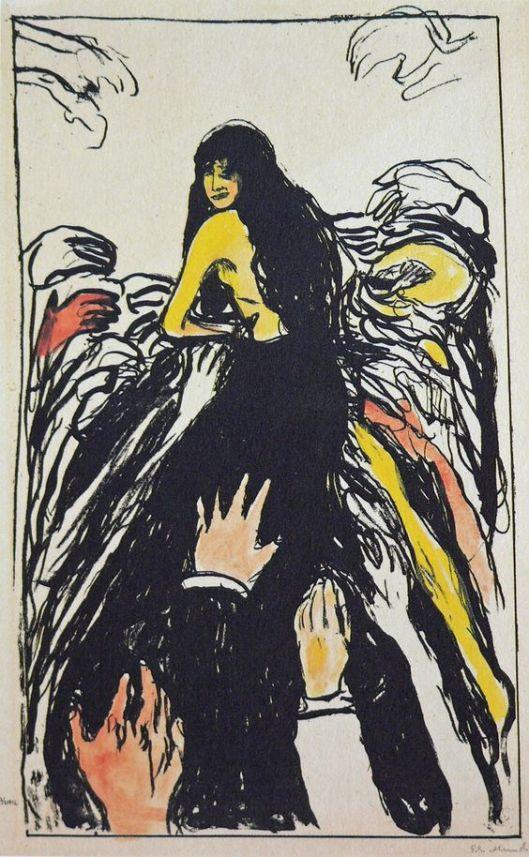 Edvard Munch manos